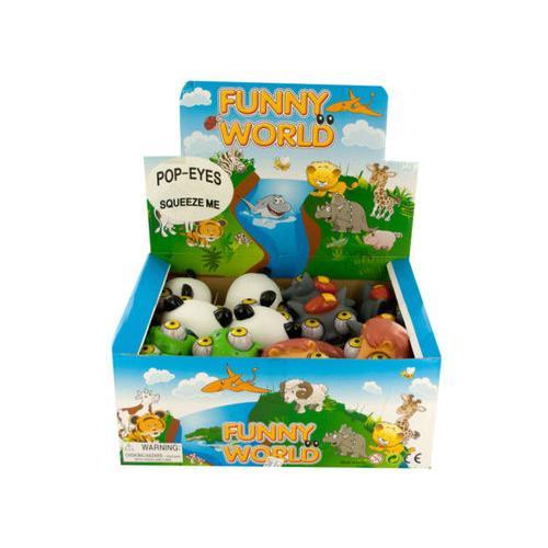 Pop-Eyes Animal Squeeze Toy Display ( Case of 72 )
