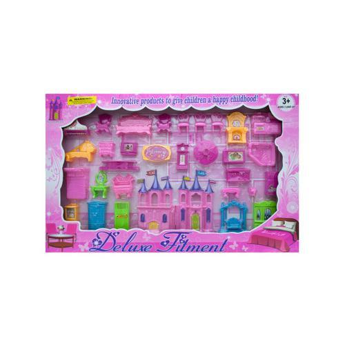 Beautiful Castle and Furniture Deluxe Play Set ( Case of 1 )