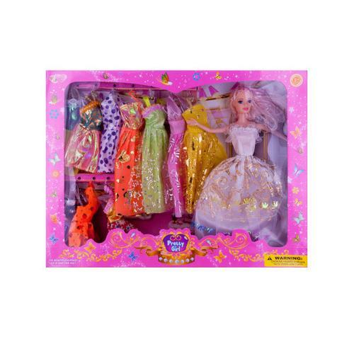 Pretty Girl Fashion Doll with Dresses Set ( Case of 3 )