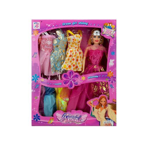 Stylish Fashion Doll with Colorful Dresses ( Case of 2 )