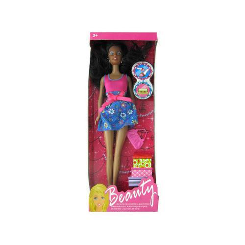 Black Fashion Doll with Accessories ( Case of 4 )
