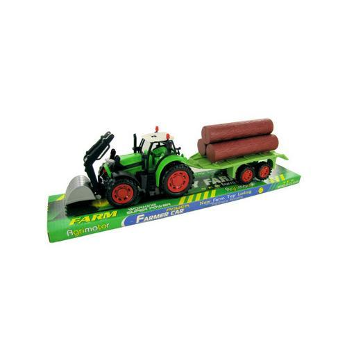 Friction Powered Farm Tractor Truck & Trailer Set ( Case of 4 )