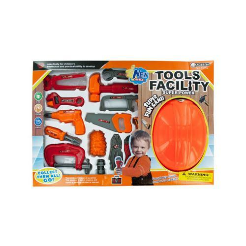 Tool Play Set with Helmet ( Case of 1 )