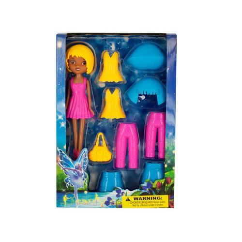 Fairy Fashion Doll with Clip-On Clothing & Accessories ( Case of 1 )
