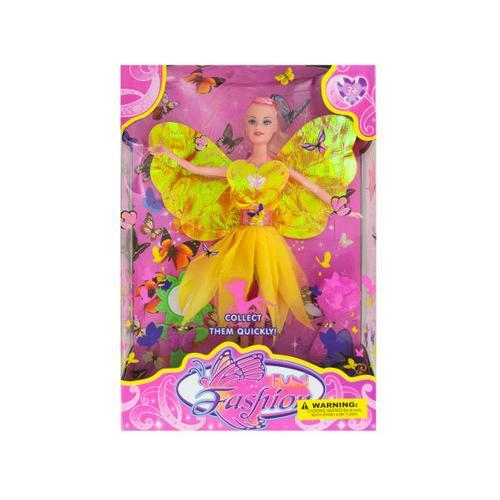Fashion Doll with Butterfly Dress & Accessories ( Case of 1 )