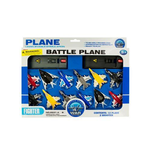 Toy Jet Fighter Planes with Launch Pads Set ( Case of 16 )