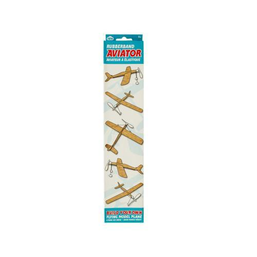Rubber Band Aviator Flying Model Plane ( Case of 6 )