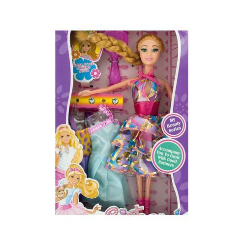 Beauty Fashion Doll with Dresses & Accessories ( Case of 8 )