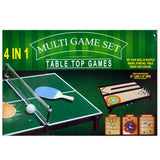 4 in 1 Tabletop Multi-Game Set ( Case of 2 )