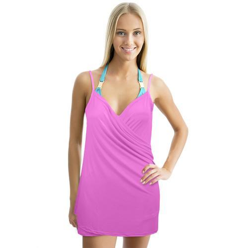Backless Beach Dress Wrap, Pink