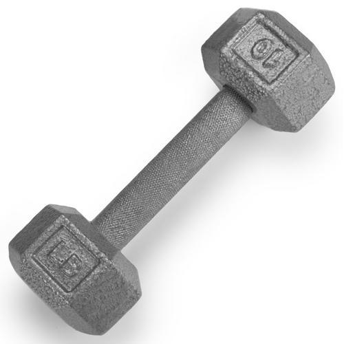 10lb Cast Iron Hex Dumbbell