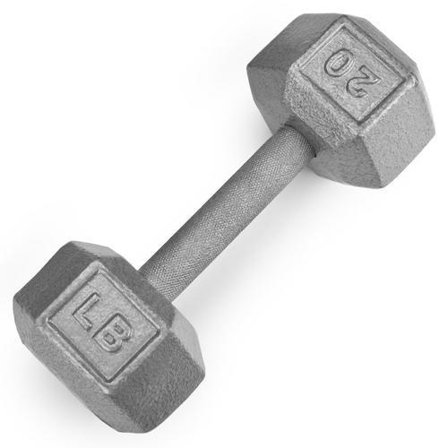 20lb Cast Iron Hex Dumbbell