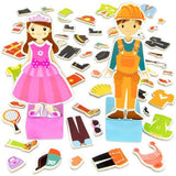 Zoey & Joey Magnetic Dress-up Playset