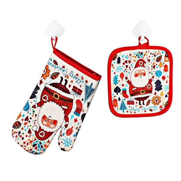 Holiday Oven Mitt & Mat