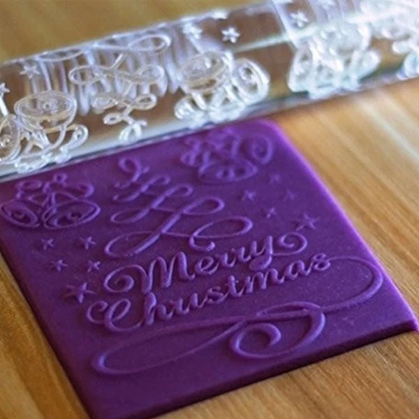 Merry Christmas Fondant Mold