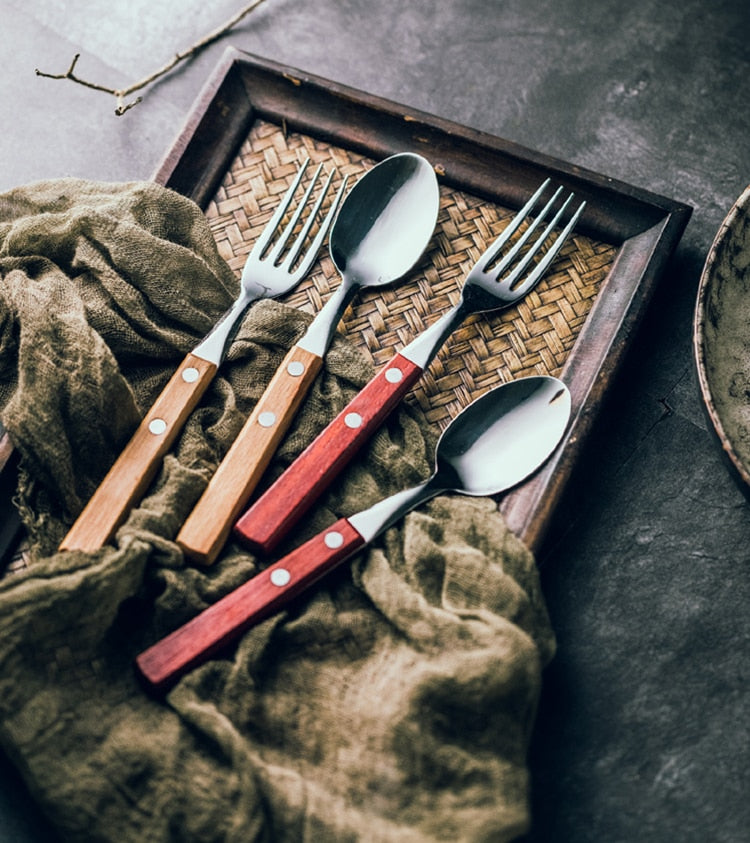 Wooden Handle Stainless Steel Cutlery