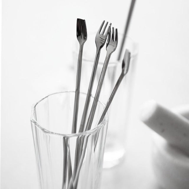 Long Handled Stainless Steel Forks & Spoons