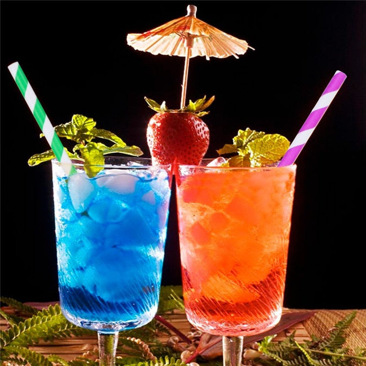 25pcs/lot Stripe Paper Straws