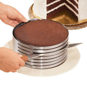 Adjustable Round Cake Slicing Mold