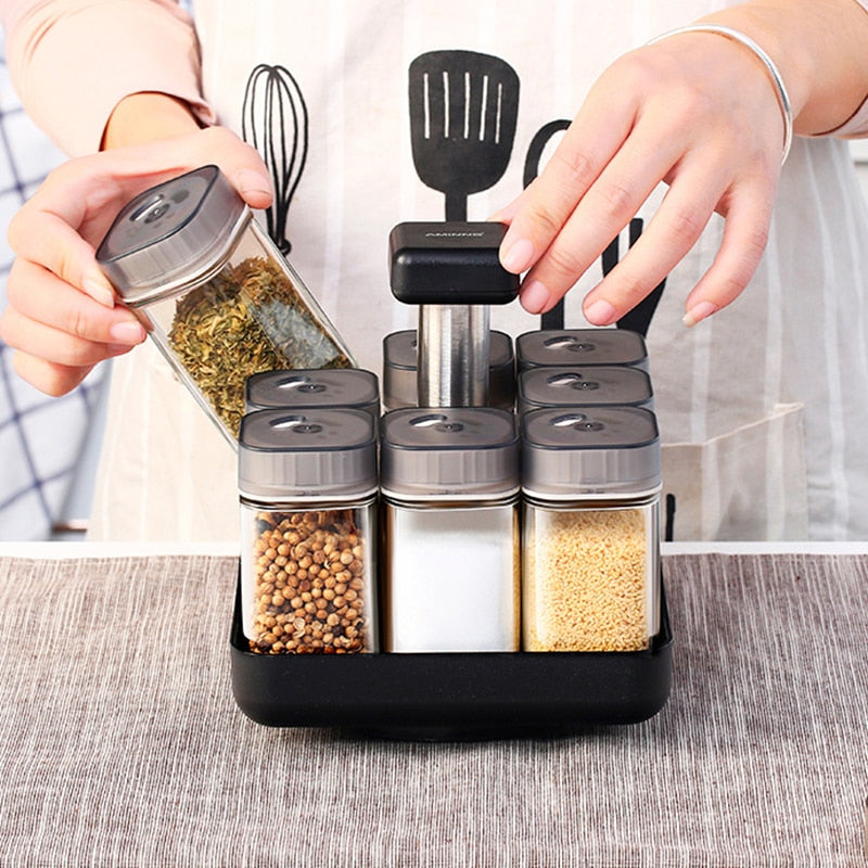 Rotating Kitchen Spice Jars