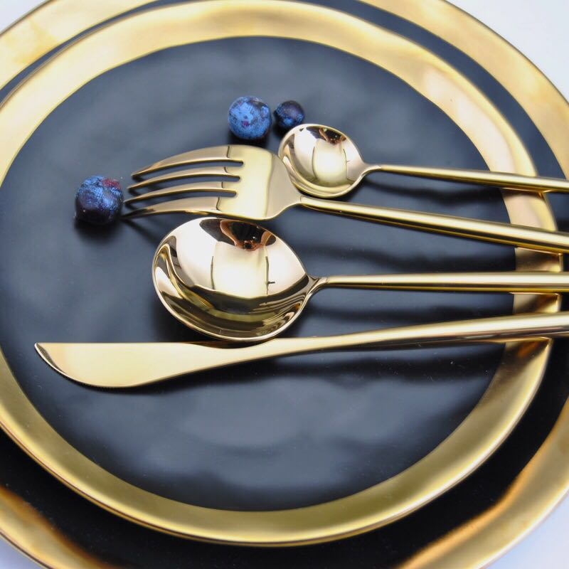 Gold Stainless Steel Cutlery Tableware Set