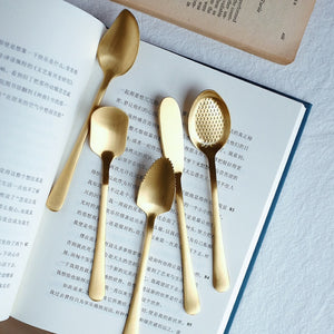 Stainless Steel Gold Cutlery Set