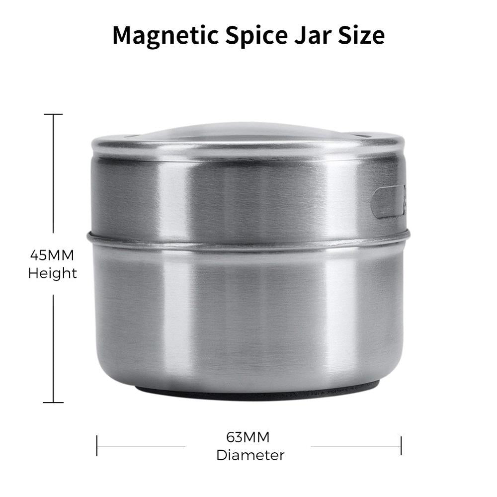 Magnetic Spice Jar Set With Stickers