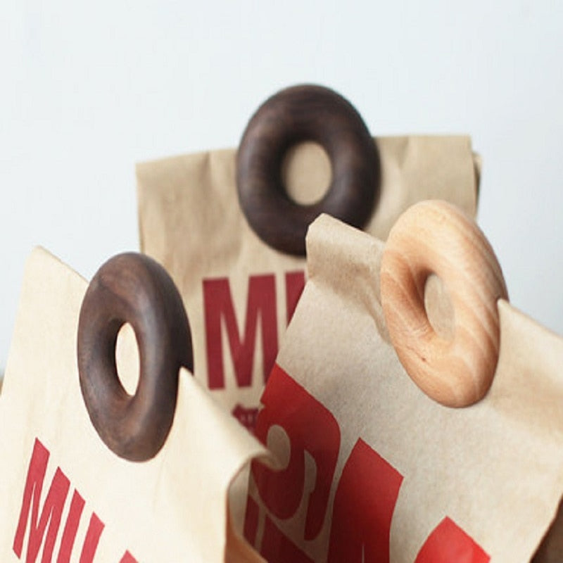 Wooden Donut Food Clips