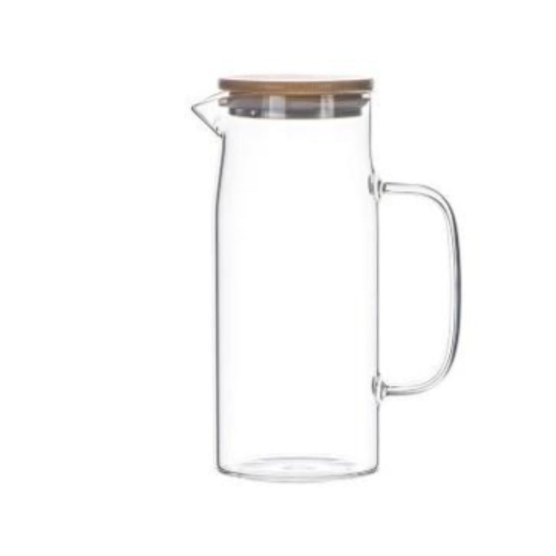 Bamboo & Glass Pitcher