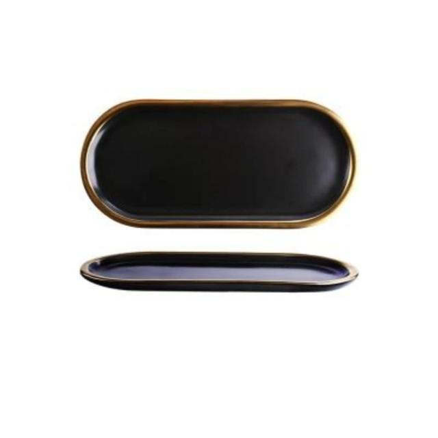 Gold Ceramic Tray