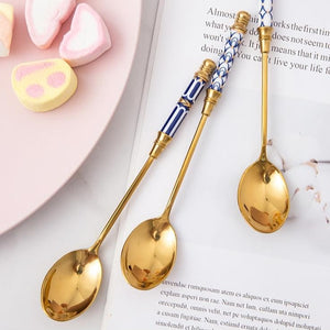 Stainless Steel Gold Plated Coffee Spoons