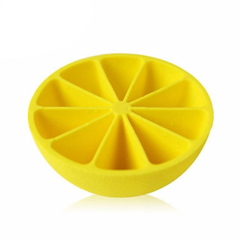 10-Cell Lemon Shaped Ice Cube Mold