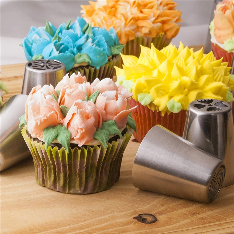 Russian Icing Piping Nozzles With Reusable Silicone Bag