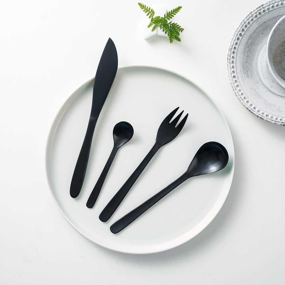 Black Matte Tableware Set