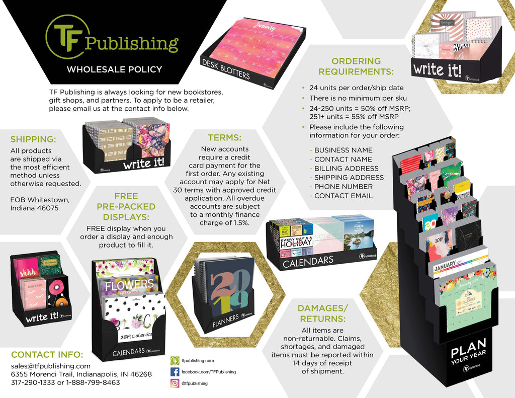Wholesale Information! – TF Publishing   Calendars + Planners