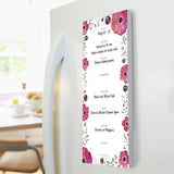 Floral Poppies Memo Magnet Note Pad