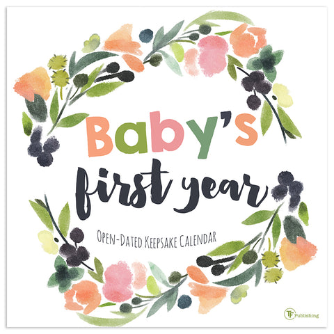 Baby's First Year Floral Wall Calendar