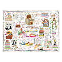 1000 Piece Books & Cats Susan Branch Jigsaw Puzzle