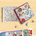 1000 Piece Greetings From The North Pole Map Christmas Jigsaw Puzzle