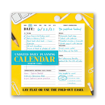 Undated Daily Planning Noteblock Calendar