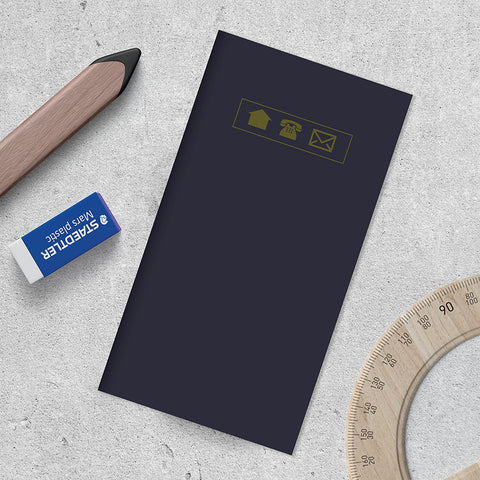Navy Address Book - BOLD MOVES COLLECTION