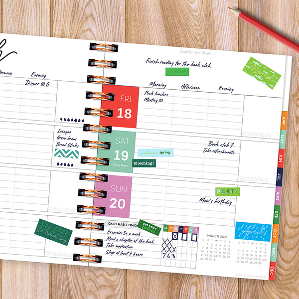 Seasonal Monthly Planner Sticker Pack