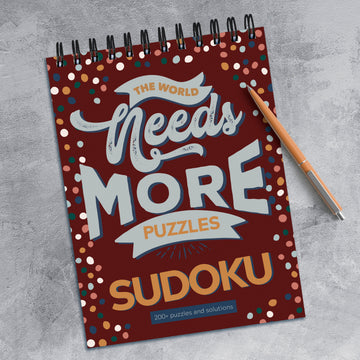 The World Needs More Sudoku Book Puzzle Pad
