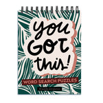 You Got This Word Search Book Spiral Puzzle Pad