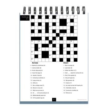 #StayatHome Crossword Puzzle Book Spiral Puzzle Pad