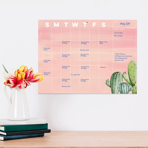 Cactus Open-Dated Calendar