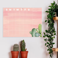 Cactus Mini Open-Dated Desk Pad