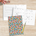 Delicate Peach Boho Undated Medium Monthly Planner