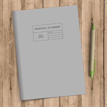 Gray Monthly Planner