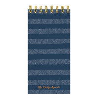 Blue Boho Stripe Daily Agenda